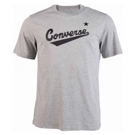 Converse CENTER FRONT LOGO TEE szary XL - Koszulka męska