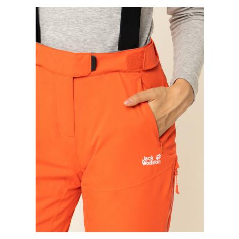 Jack Wolfskin Spodnie narciarskie Bridgeport 1111841-3032 Pomarańczowy Regular Fit