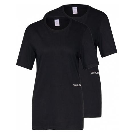 Calvin Klein Underwear Koszulka do spania 'S/S CREW NECK 2PK' czarny