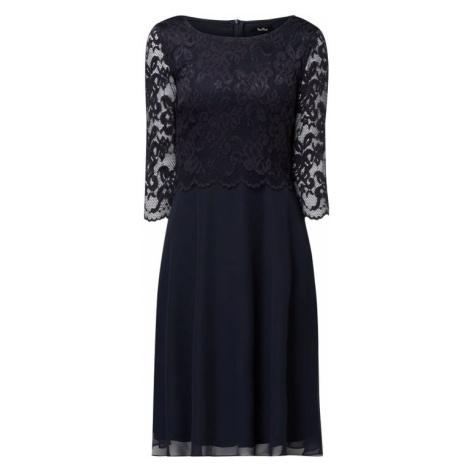 Sukienka koktajlowa z koronki i szyfonu Vera Mont