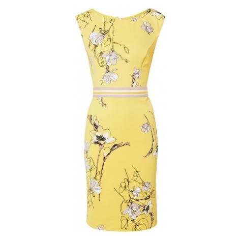 S.Oliver BLACK LABEL Sukienka żółty / mieszane kolory