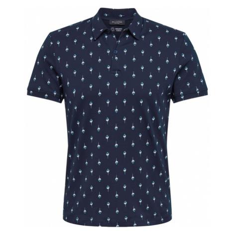 SELECTED HOMME Koszulka 'SADE' atramentowy / gołąbkowo niebieski / biały