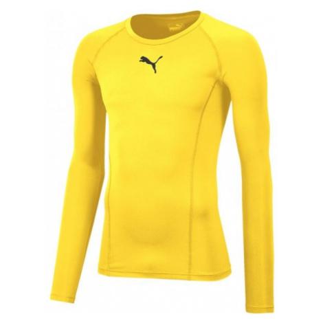 Puma LIGA BASELAYER TEE LS żółty XXL - Koszulka termoaktywna męska