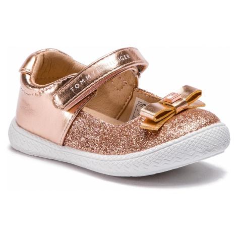 Półbuty TOMMY HILFIGER - Mary Jane Ballerina T1A3-30350-0567 Rose Gold 341