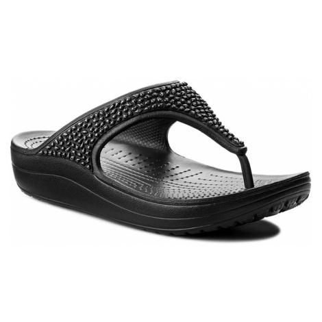 Japonki CROCS - Sloane Embellished Flip 204181 Black/Black