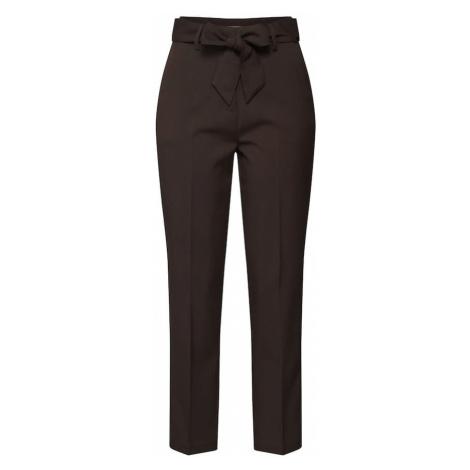 EDITED Spodnie w kant 'Bobby' ciemnobrązowy