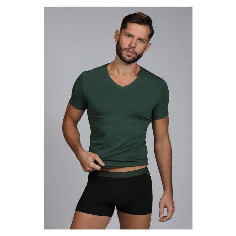 Męski komplet: T-shirt i bokserki Raw Man zielony Cotonella