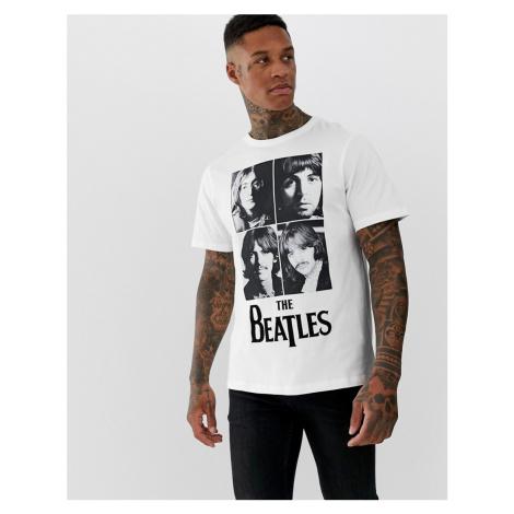 Pull&Bear The Beatles t-shirt in white Pull & Bear