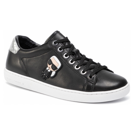 Sneakersy KARL LAGERFELD - KL61230 Black Lthr