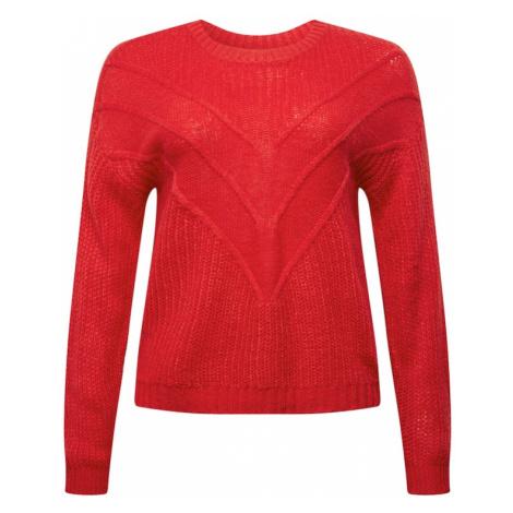 ONLY Carmakoma Sweter 'LIMA' czerwony