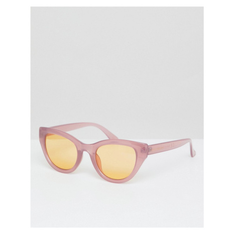 South Beach Pink Cat Eye Sunglasses with Orange Tinted Lens