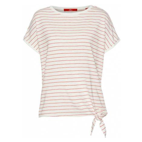 S.Oliver Koszulka pastelowa czerwień / biały