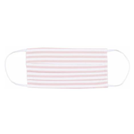 Mey Maska z materiału biały / różowy pudrowy