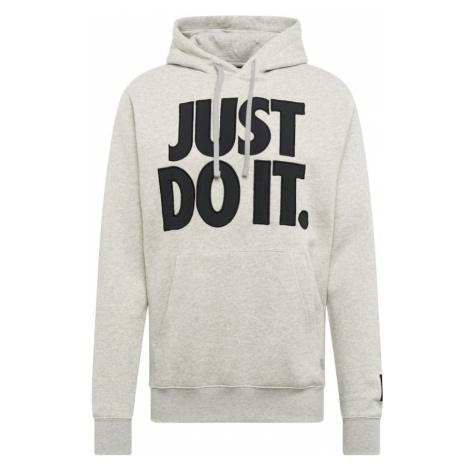 Nike Sportswear Bluzka sportowa szary / czarny