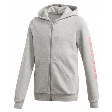 ADIDAS PERFORMANCE Bluza rozpinana sportowa różowy / nakrapiany szary
