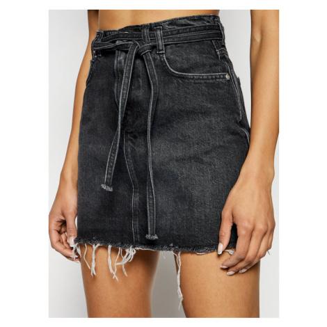 Pepe Jeans Spódnica jeansowa ARCHIVE Rachel PL900915 Czarny Regular Fit