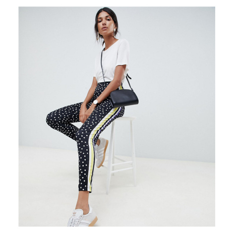 ASOS TALL Peg Trousers in Spot and Stripe Print