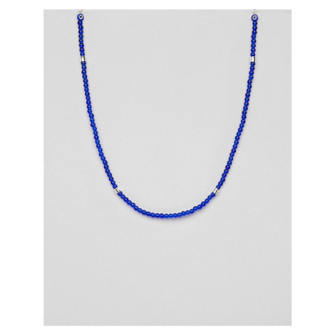 Icon Brand beaded necklace in blue
