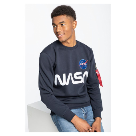 Bluza Alpha Industries Nasa Reflective Sweater 07 Rep. Blue
