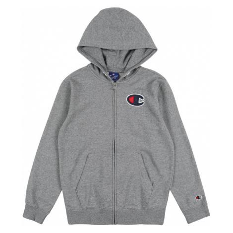 Champion Authentic Athletic Apparel Bluza rozpinana 'Hooded Full Zip Sweatshirt' nakrapiany szar