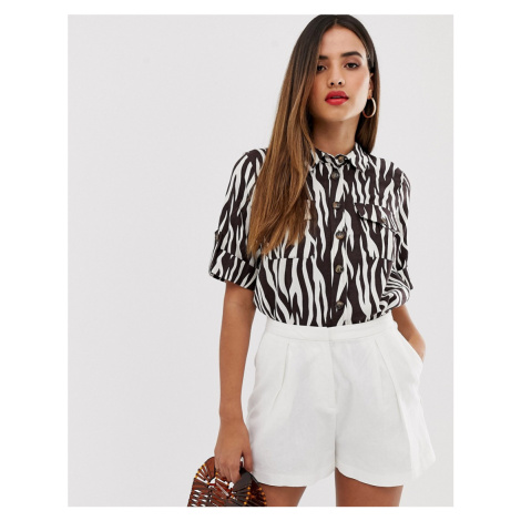 Warehouse shirt in zebra print
