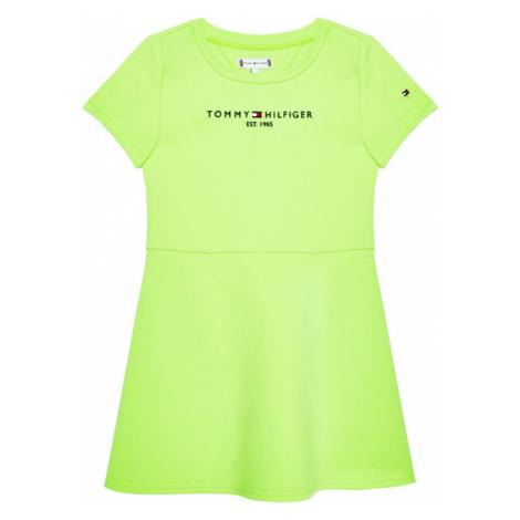 Tommy Hilfiger Sukienka codzienna Essential Skater KG0KG05789 D Zielony Regular Fit