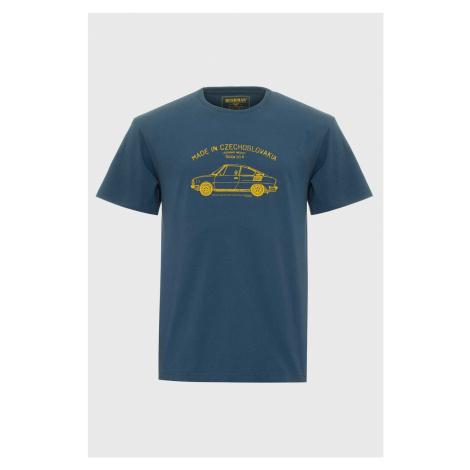 Niebieski T-shirt Bushman Bobstock