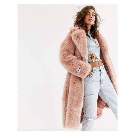 Jakke long coat in faux fur