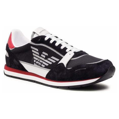 Sneakersy EMPORIO ARMANI - X4X537 XM678 N495 Unv/Navy/Op.Wht/Bor