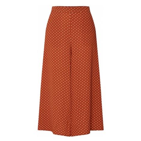 SOAKED IN LUXURY Spodnie 'Mila' rdzawobrązowy / biały
