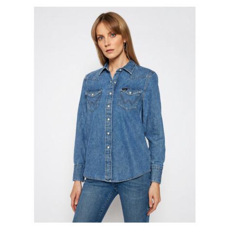 Wrangler Koszula jeansowa Western W5WSLW31S Niebieski Regular Fit