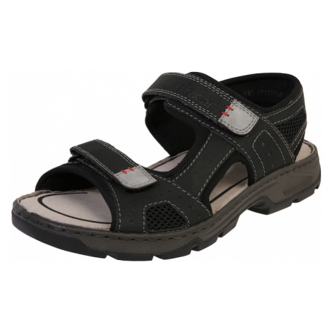 RIEKER Sandały czarny