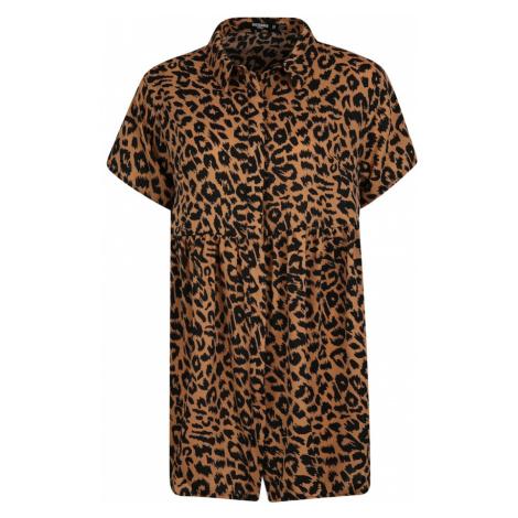 Missguided (Petite) Sukienka koszulowa brązowy / czarny