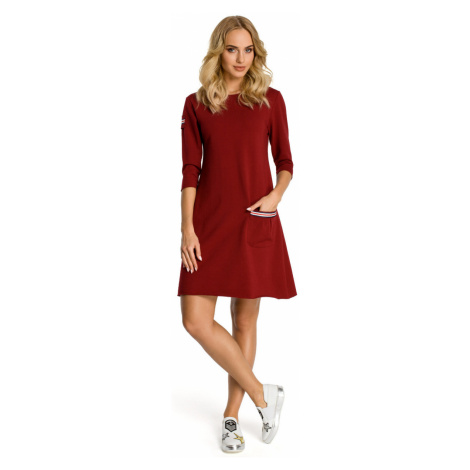 Made Of Emotion Woman's Dress M343 Maroon