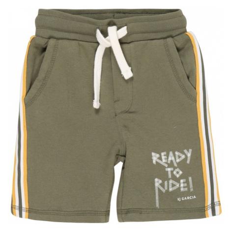 GARCIA Spodnie oliwkowy / biały / żółty Garcia Jeans