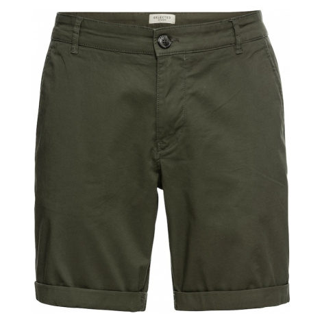 SELECTED HOMME Spodnie ciemnozielony