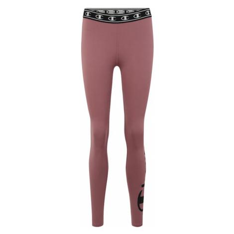 Champion Authentic Athletic Apparel Spodnie sportowe 'Leggings' fioletowy / czarny