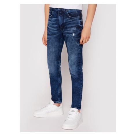 Calvin Klein Jeans Jeansy IB0IB00736 Granatowy Tapered Fit