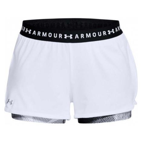 Under Armour HG ARMOUR 2-IN-1 PRINT SHORT biały L - Spodenki treningowe damskie