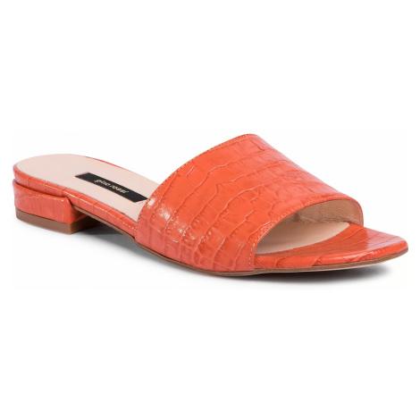 Klapki GINO ROSSI - A45454 Dark Orange