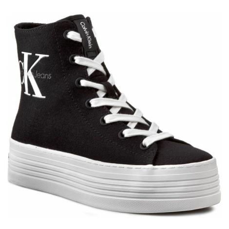 Sneakersy CALVIN KLEIN JEANS - Zabrina Canvas RE9245 Black