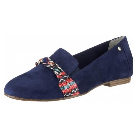 TAMARIS Pantofle ciemny niebieski / mieszane kolory