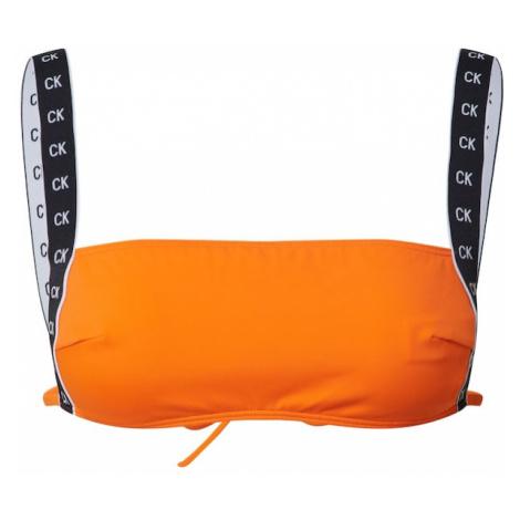 Calvin Klein Swimwear Góra bikini 'SQUARE' pomarańczowy