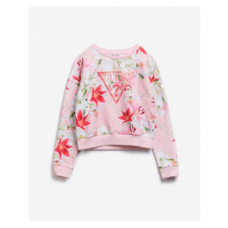 Guess Logo Allover Bluza dziecięca Różowy