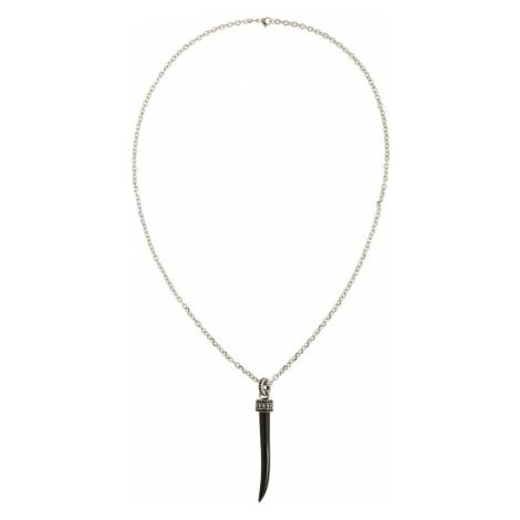 ROYAL-EGO Łańcuszek 'Necklace Tooth silver' czarny / srebrny