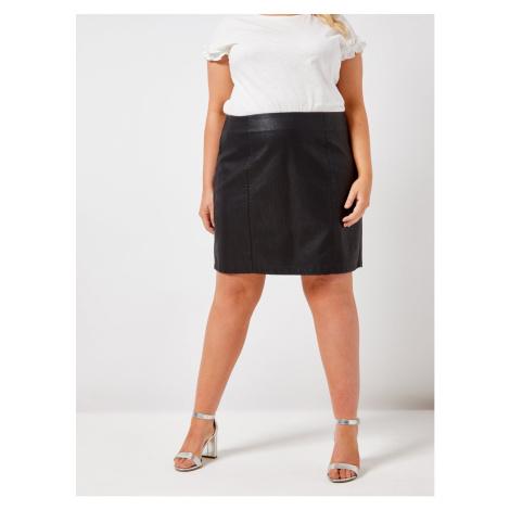 Dorothy Perkins Curve Black Imitation Leather Miniskirt
