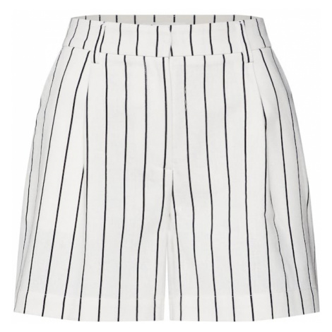 MOSS COPENHAGEN Spodnie 'Livia' czarny / biały