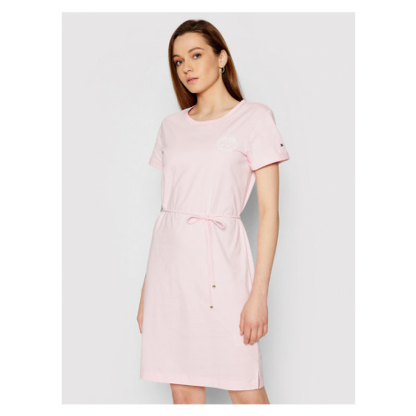 Tommy Hilfiger Sukienka codzienna Abo Erth Day WW0WW32331 Różowy Regular Fit