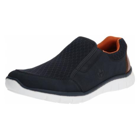 RIEKER Pantofle ciemny niebieski / biały