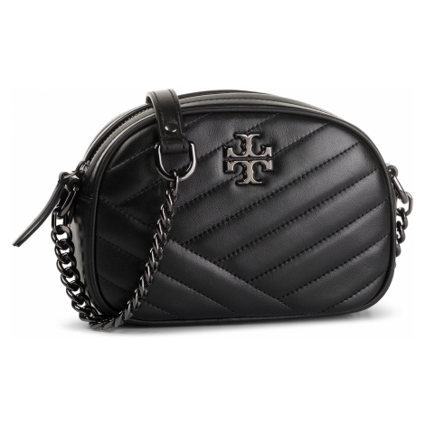 Torebka TORY BURCH - Kira Chevron Camera Bag 60227 Black/Gunmetal 013